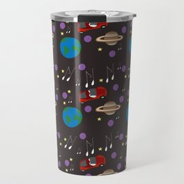 Starman And The Red Sports Car In Outer Space Travel Mug