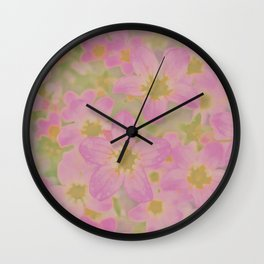 Pink Floral, The Earth Laughs In Flowers Wall Clock