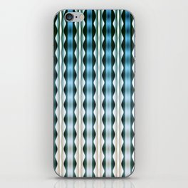 Wavy Verticals Ocean Blue iPhone Skin