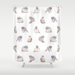 Fluffy Critters Shower Curtain