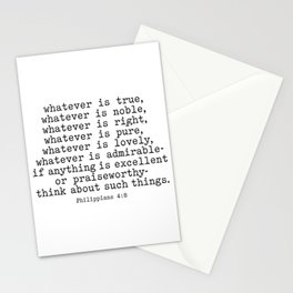 Philippians 4:8, Whatever is true Stationery Cards