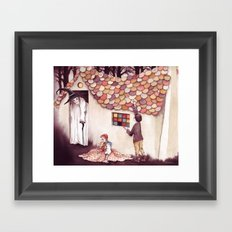 Nibble, nibble, gnaw - From Hansel and Gretel - As recorded by the Brothers Grimm Framed Art Print