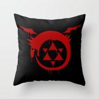 fullmetal Throw Pillows featuring Ouroboros by KanaHyde