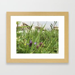 Peaceful View from My Morning Yoga Practice -- Pigeon Pose Framed Art Print