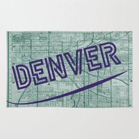 denver Area & Throw Rugs featuring Denver by Dweezle
