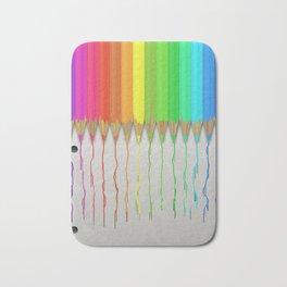 Melting Rainbow Pencils Bath Mat