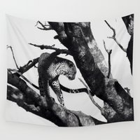 leopard Wall Tapestries featuring Leopard  by Shannon Grell-Aird