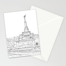 Reno Nevada LDS Temple Sketch Stationery Cards