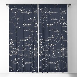 Carte du Ciel I Blackout Curtain