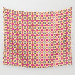 Pink Mediterranean tiles pattern Wall Tapestry