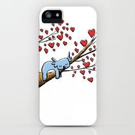 Cute Koala in Tree of Hearts iPhone Case