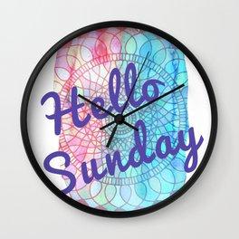 Hello Sunday Wall Clock