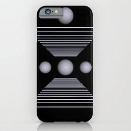 white on black -100- iPhone Case
