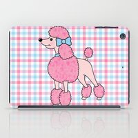 poodle iPad Cases featuring Pink Poodle by Jade Boylan