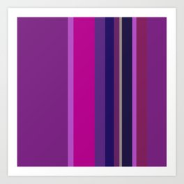 Spring collection - Orchid - Strips Art Print