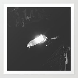 One Lone Light in the Darkness Art Print