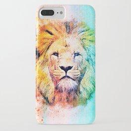 Rainbow lion iPhone Case