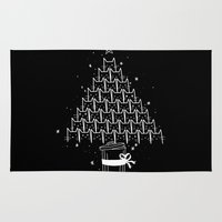 xmas Area & Throw Rugs featuring Catmas Xmas by Tobe Fonseca