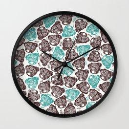 The Barking Pug Wall Clock