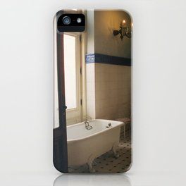 Bathtub with a View, Chapultepec Castle, CDMX 35mm Film iPhone Case