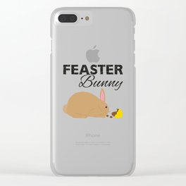 Feaster Bunny Clear iPhone Case