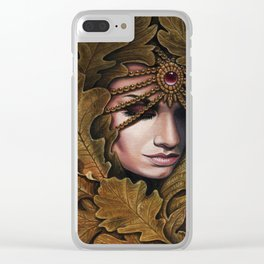 Mabon - goddess of fall Clear iPhone Case