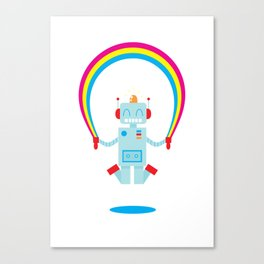 Skipping a Rainbow Canvas Print