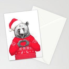 christmas bear Stationery Cards