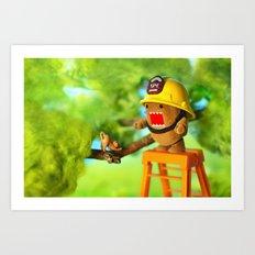 Domo Rescue Art Print