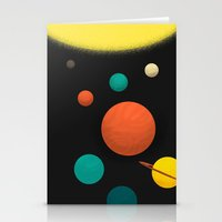solar system Stationery Cards featuring Solar system by Sarajea