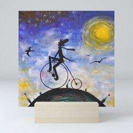 Evening Bike Ride Mini Art Print