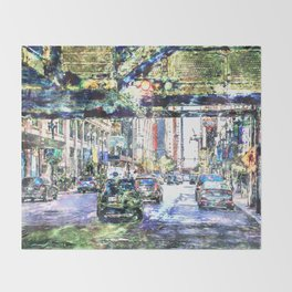 Scenes In The City Throw Blanket