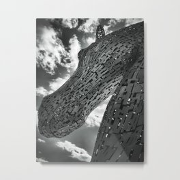 The Kelpies Metal Print