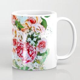 Rose Flower Bouquet Watercolor Coffee Mug