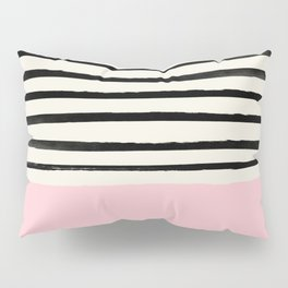 Millennial Pink x Stripes Pillow Sham