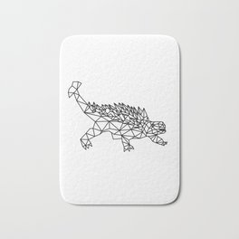 Geometric Low poly dinosaur Bath Mat