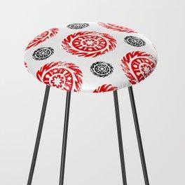 Sun mandala pattern Counter Stool