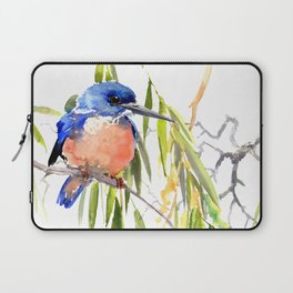 KIngfisher and Weeping Willow Laptop Sleeve