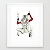 the joker Framed Art Prints featuring Joker by Connie Lim