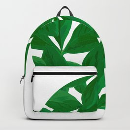 Summer Fresh Green Leaf White Background #decor #society6 #buyart Backpack