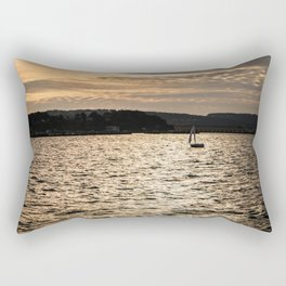 Sunset in San Francisco bay Rectangular Pillow