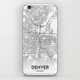 Minimal City Maps - Map Of Denver, Colorado, United States iPhone Skin