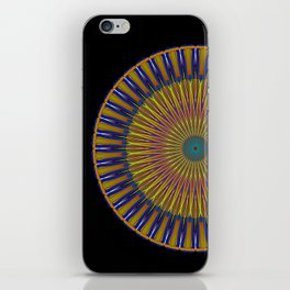 MEDALLION - royal blue & gold on black iPhone Skin