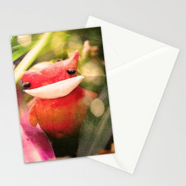 Red kitty in the Jungle Stationery Cards