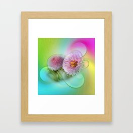 take time to look at flowers -101- Framed Art Print