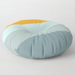 Zen Ocean Stripes Floor Pillow