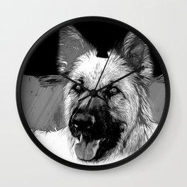 german shepherd dog v2vabw Wall Clock