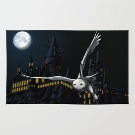 Hedwig's flight at Night Rug