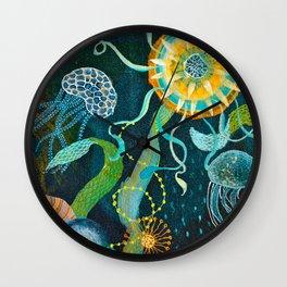 Three moons & a tropical sun Wall Clock
