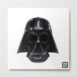 Darth Skull Vader Metal Print